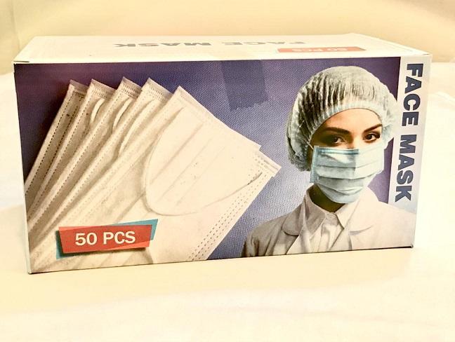 ماسک ۳ لایه پزشکی (بسته ۵۰ عددی) فروش عمده